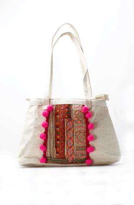 Beautiful Hippie Boho Half Moon Bag