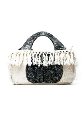 Indigo Hemp Top Handle Bohemian Handbag