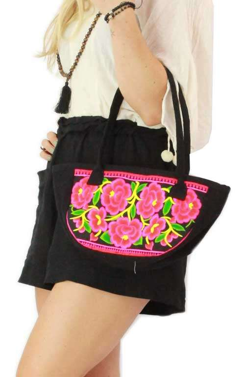 Lucy Small Tote Bag - Rose Garden