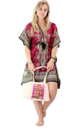Kaftan Dress - Artistic Pink