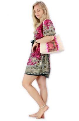 Kaftan Dress - Artistic Pink