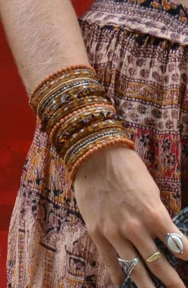 Red beaded wrap bracelet