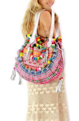 Vintage Half Circle Hippie Bag