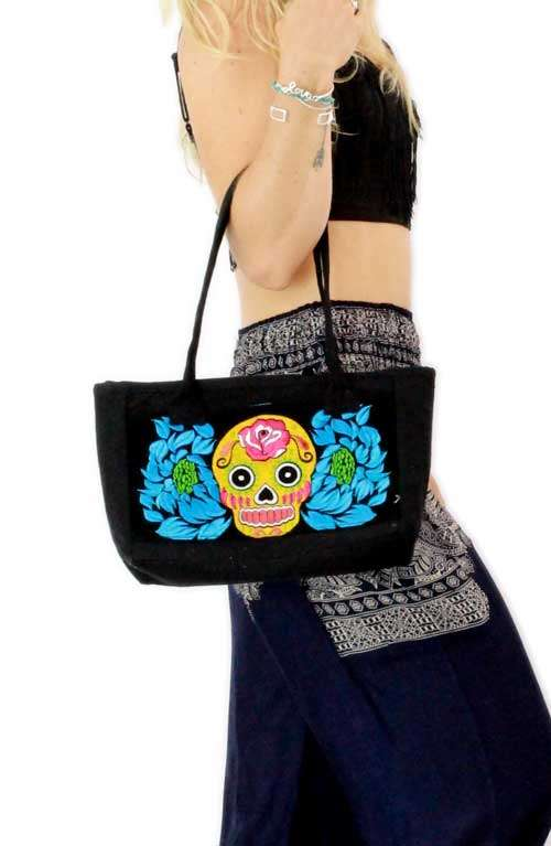 Lucy Skull Small Tote Bag