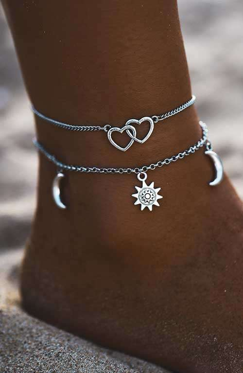 Silver Star Bohemian Anklet