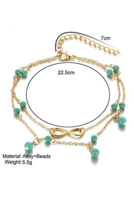 Multi Layer Turquoise Bohemian Anklet