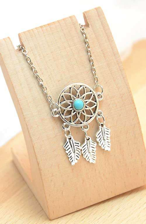 Dream Catcher Feather Anklet