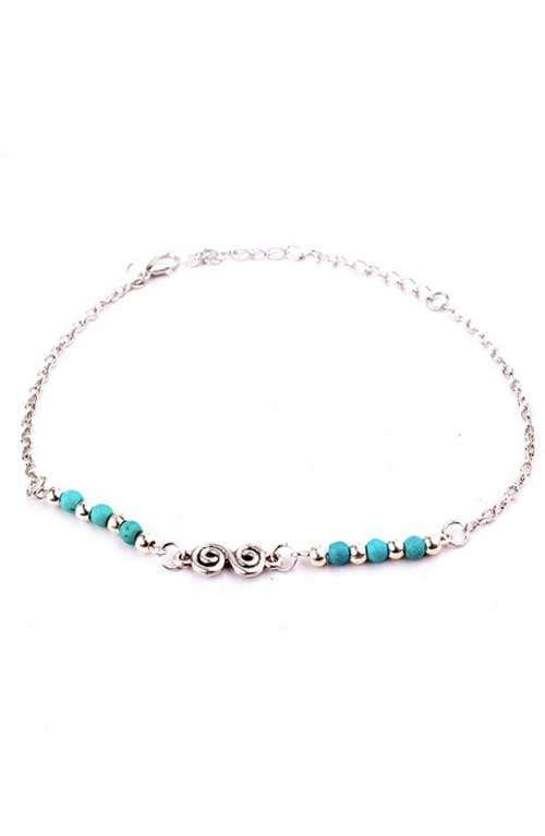 Infinity Turquoise Bohemian Anklet