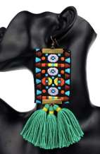 Turquoise Synthetic Silk Tassels