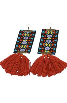 Long Vibrant Tassel Earrings