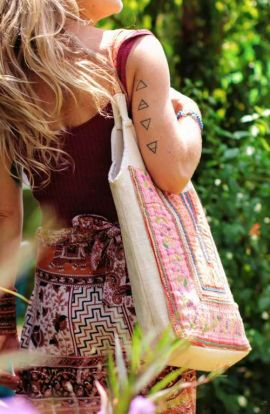 Vintage and Hemp Tote Bag