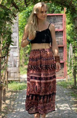 Bohemian Maxi Skirt - Gypsy Pattern