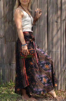Bohemian Peacock Long Skirt
