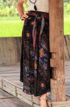 Bohemian Peacock Long Skirt