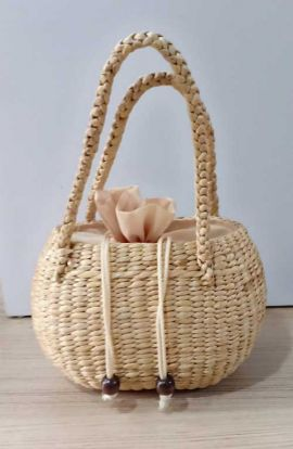 Small Rattan Top Handle Bag