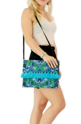 Lioness Oversized Clutch - Ocean Bird