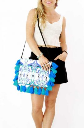 Lioness Oversized Purse - Blue Wave