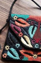Raffia Palm Clutch Bag