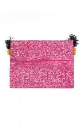 Kimmi Clutch - Batik Pink