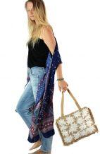 Jute Lilly Tote Handbag