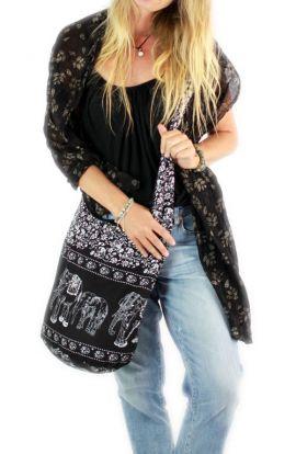 Crossbody Bag - Black Elephant