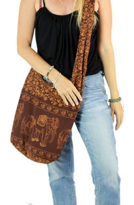 Elephant Crossbody Bag - Brown