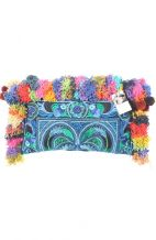 Mila Blue Bird Clutch - Multi Tasseled