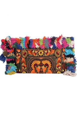 Mila Colorful Clutch - Tasseled