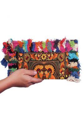 Mila Colorful Clutch - Tasseled