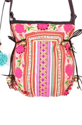 Vintage Cross Body Bag - Hmong Pink