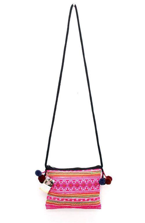 Vintage Cross Body Bag - Pink