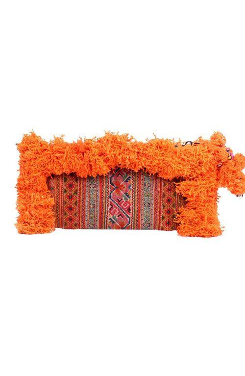 Adalee Vintage Clutch - Burnt Orange