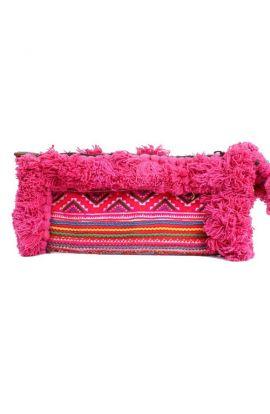 Adalee Vintage Pink Clutch - Tasseled