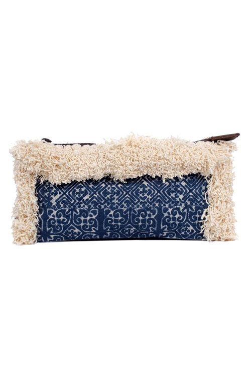 Adalee Batik Clutch - Cream