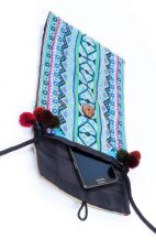 Vintage Blue Crossbody Bag - Festive