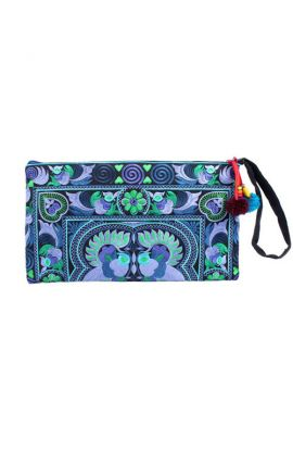 Hmong Bird Clutch Wristlet