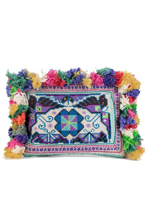 Oaklynn Vintage Clutch - Multi Tasseled