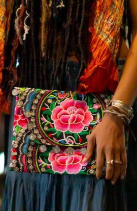 Large Rose Clutch Bag