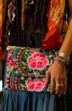 Large Rose Clutch Bag