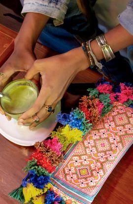 Vintage Hmong Tassel Clutch Bag
