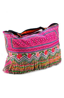 Hmong Vintage Shoulder Bag - Pink