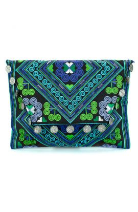 Kimmi Clutch - Spiral Diamond Blue