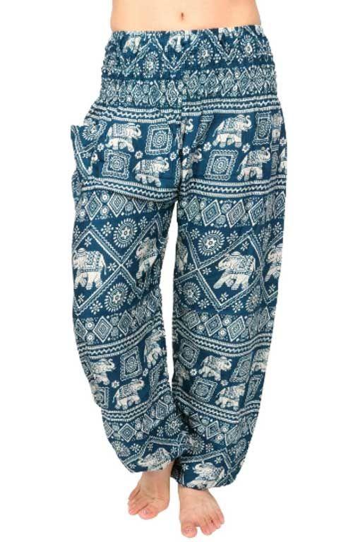 Elephant Harem Pants - Turquoise