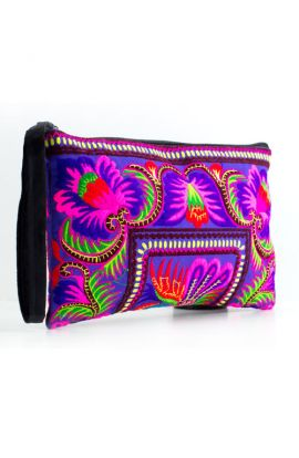 Wristlet Clutch Bag - Orchid Butterfly