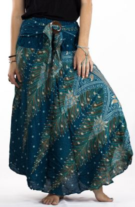 Bohemian Long Skirt - Mediterranean