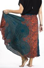 Long Boho Skirt - Dolphin