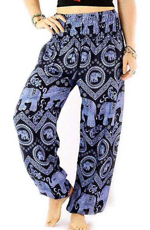 Elephant Harem Pants - Navy