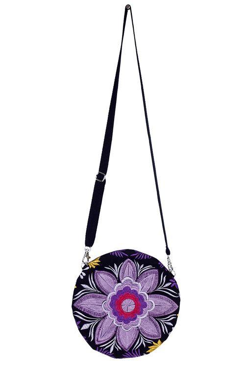 Cross Body Bag - Round Mex Violet