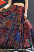 Bohemian Patchwork Long Skirt