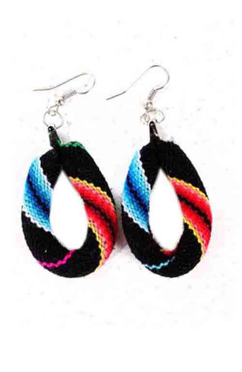 Colorful Oval Earrings